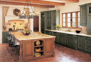 Large French Country Kitchen And Dining Room