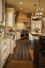 Luxury Cream Colored Kitchen Cabinet Ideas Wood Floors and Granite Countertops