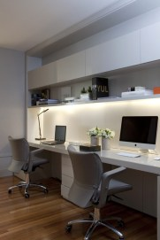Modern Home Office Room Ideas Two Desk