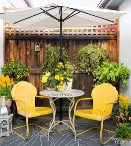 Small Deck Decorating Ideas With Yellow Chairs On A Budget