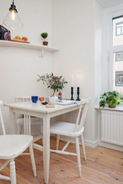 Small White Kitchen Tables And Chairs With Candle For Small Spaces