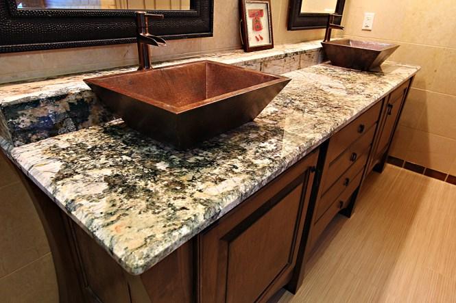 Granite Sink Countertop Bathroom