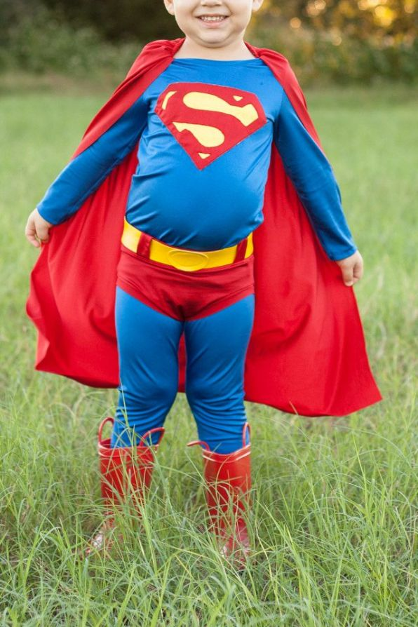 DIY Superman Costume for Boys