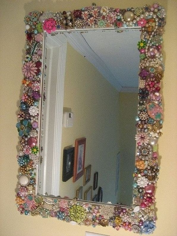 Vanity Mirror Full of Accessories