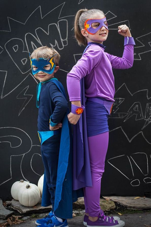 DIY Superhero Costumes for Siblings