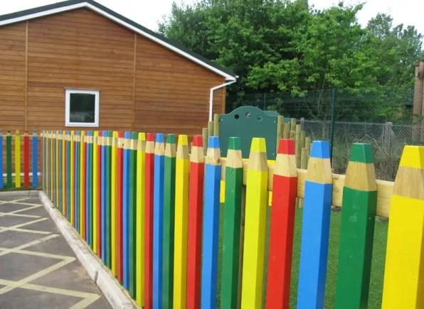 Pencil Crayon Fence Ideas
