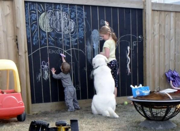 The Chalkboard Fence Idea