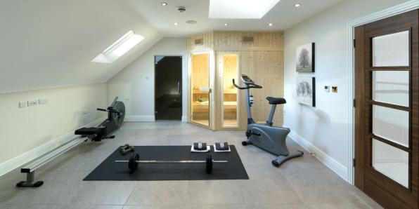 Home Gym and Sauna Space