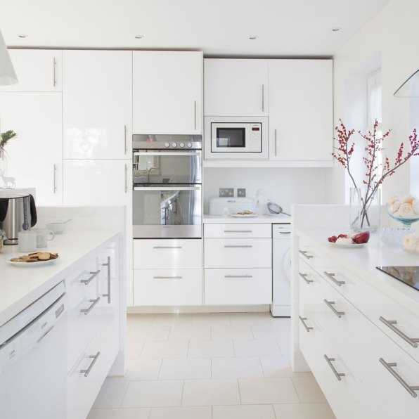 Full White U-Shaped Kitchen