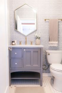 41 + Types Of Guest Bathroom Ideas Half Baths Floating Shelves 57