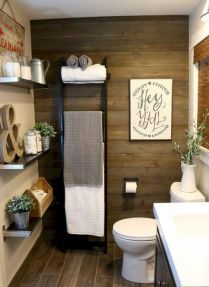 41 + Types Of Guest Bathroom Ideas Half Baths Floating Shelves 68