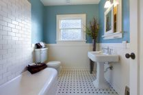 41 + Types Of Guest Bathroom Ideas Half Baths Floating Shelves 84