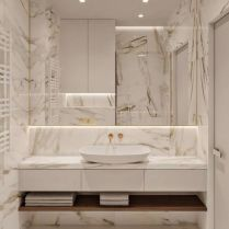 40 Awesome Marble In Shower Design Ideas To Inspire You 123