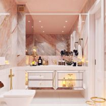 40 Awesome Marble In Shower Design Ideas To Inspire You 57