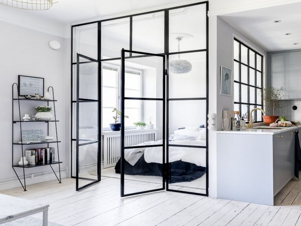 Totally Unique Ways To Use Glass Door As A Room Divider