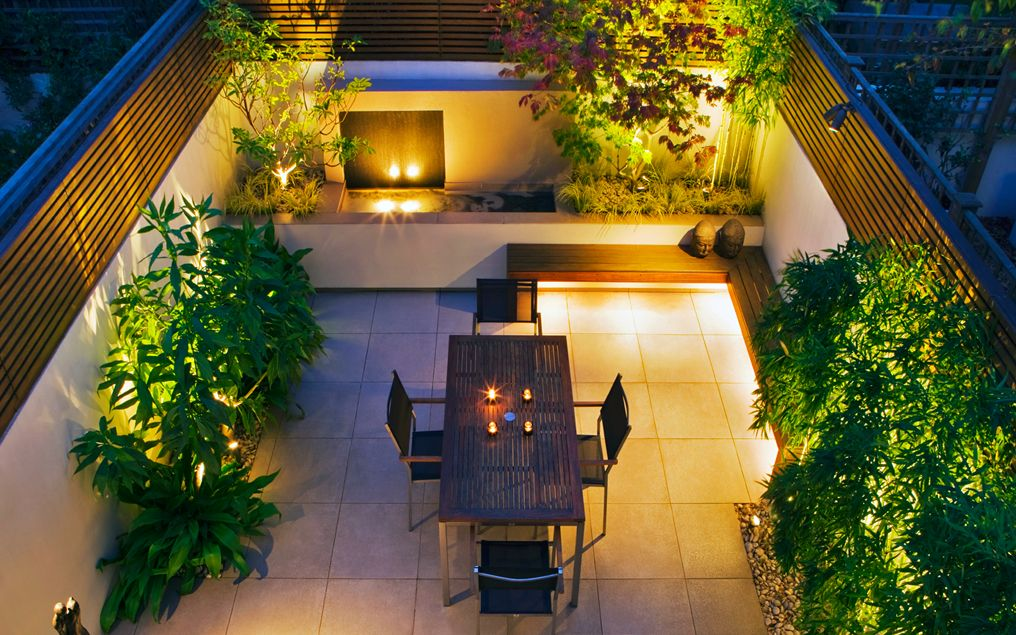 Ideas on How to Decorate Impressive Small Courtyard ... on Landscape Garden Designs For Small Gardens id=46017
