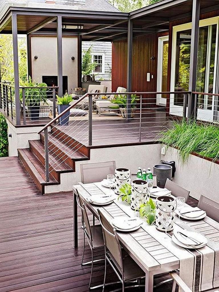 45+ Amazing Backyard Patio Deck Design Ideas - Page 48 of 48 on Outdoor Deck Patio Ideas id=63275