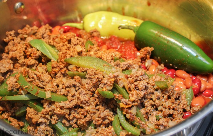 Beef and Peppers Chili