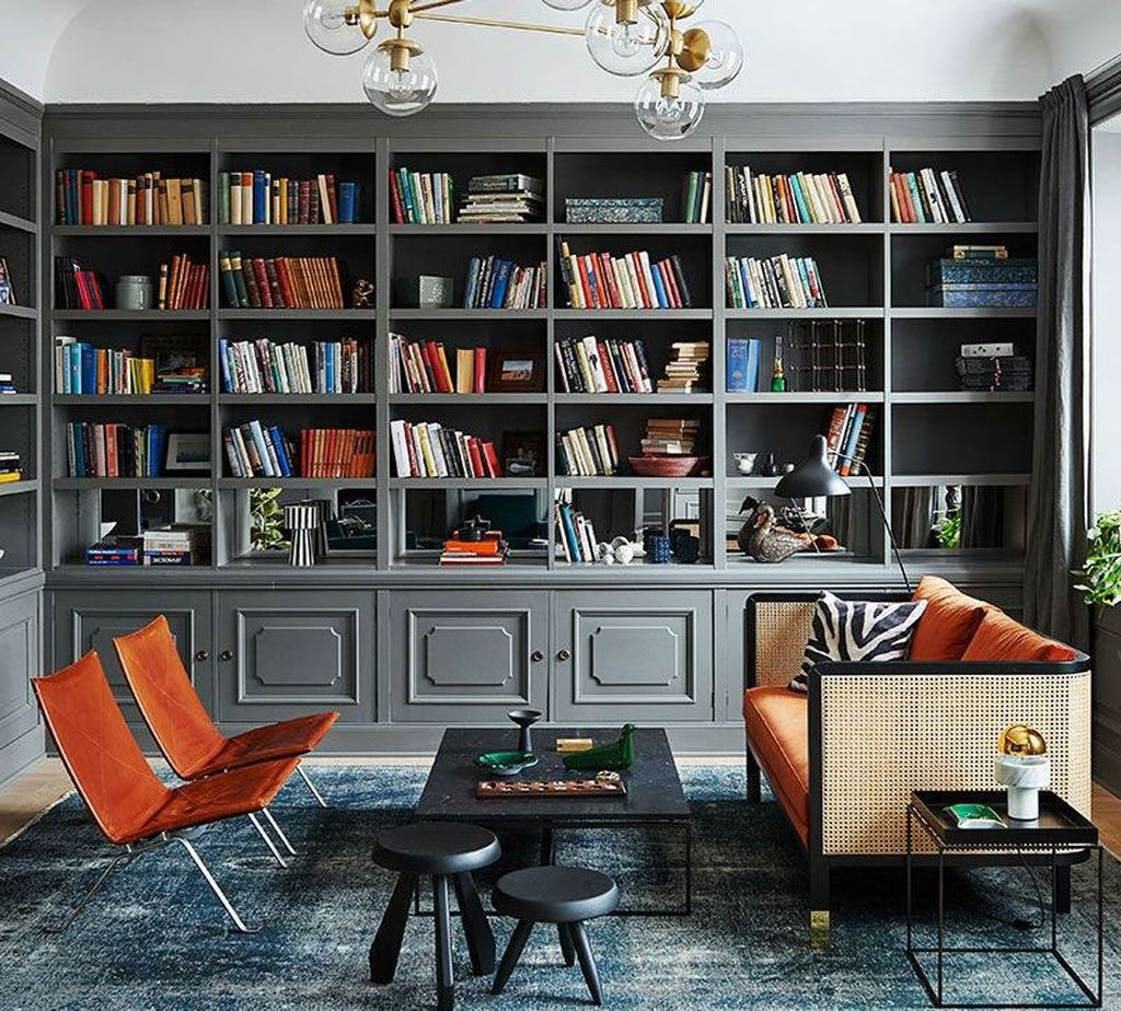 Smart Library Design Ideas For Home To Add To Your List 31