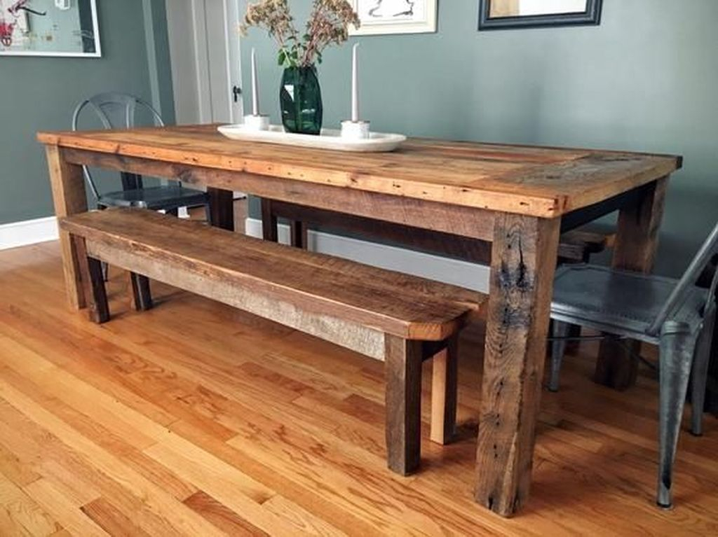 Brilliant Wood Dining Table Design Ideas That Trend Today 14