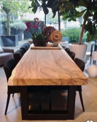 Brilliant Wood Dining Table Design Ideas That Trend Today 20