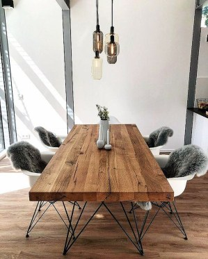 Brilliant Wood Dining Table Design Ideas That Trend Today 25