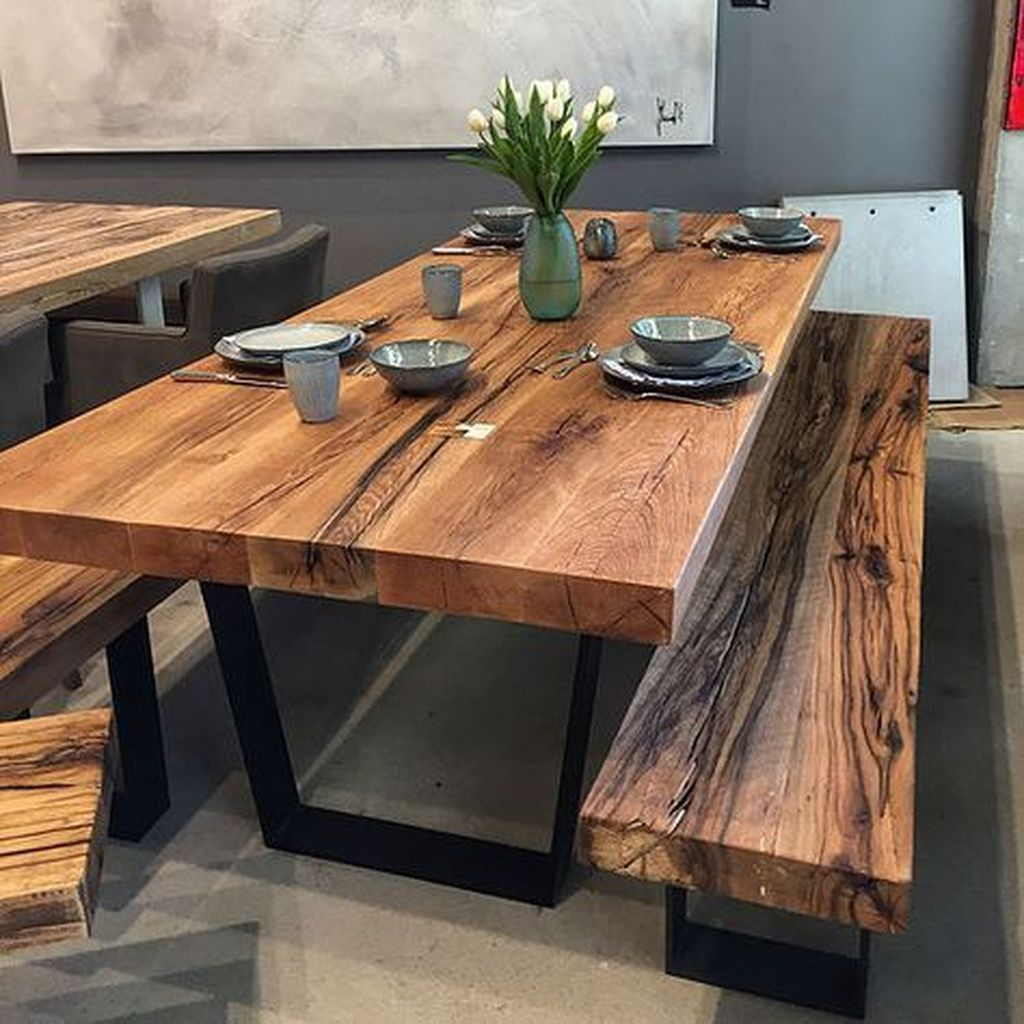 Brilliant Wood Dining Table Design Ideas That Trend Today 37