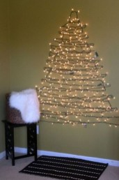 Pretty Space Decoration Ideas With Christmas Tree Lights 07