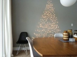 Pretty Space Decoration Ideas With Christmas Tree Lights 17