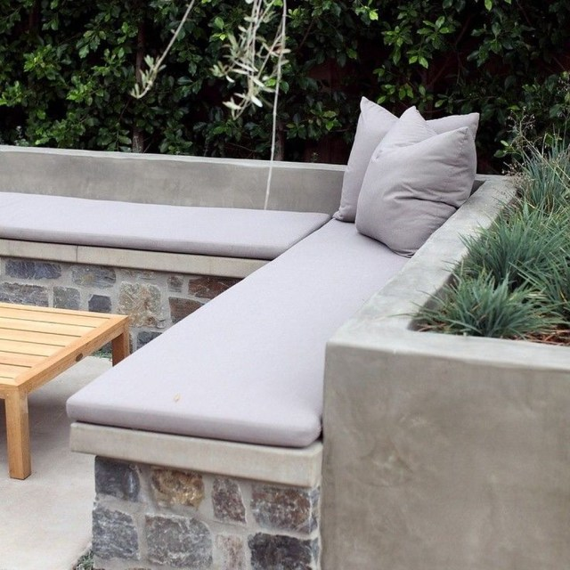 Rustic Wall Outdoor Concrete Ideas For Inspiration 05