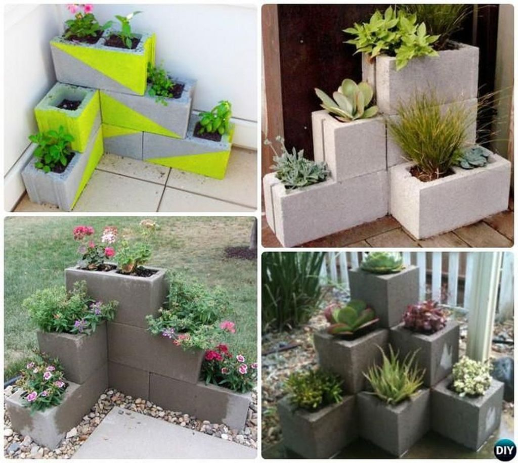Stylish Garden Design Ideas With Cinder Block To Try 08