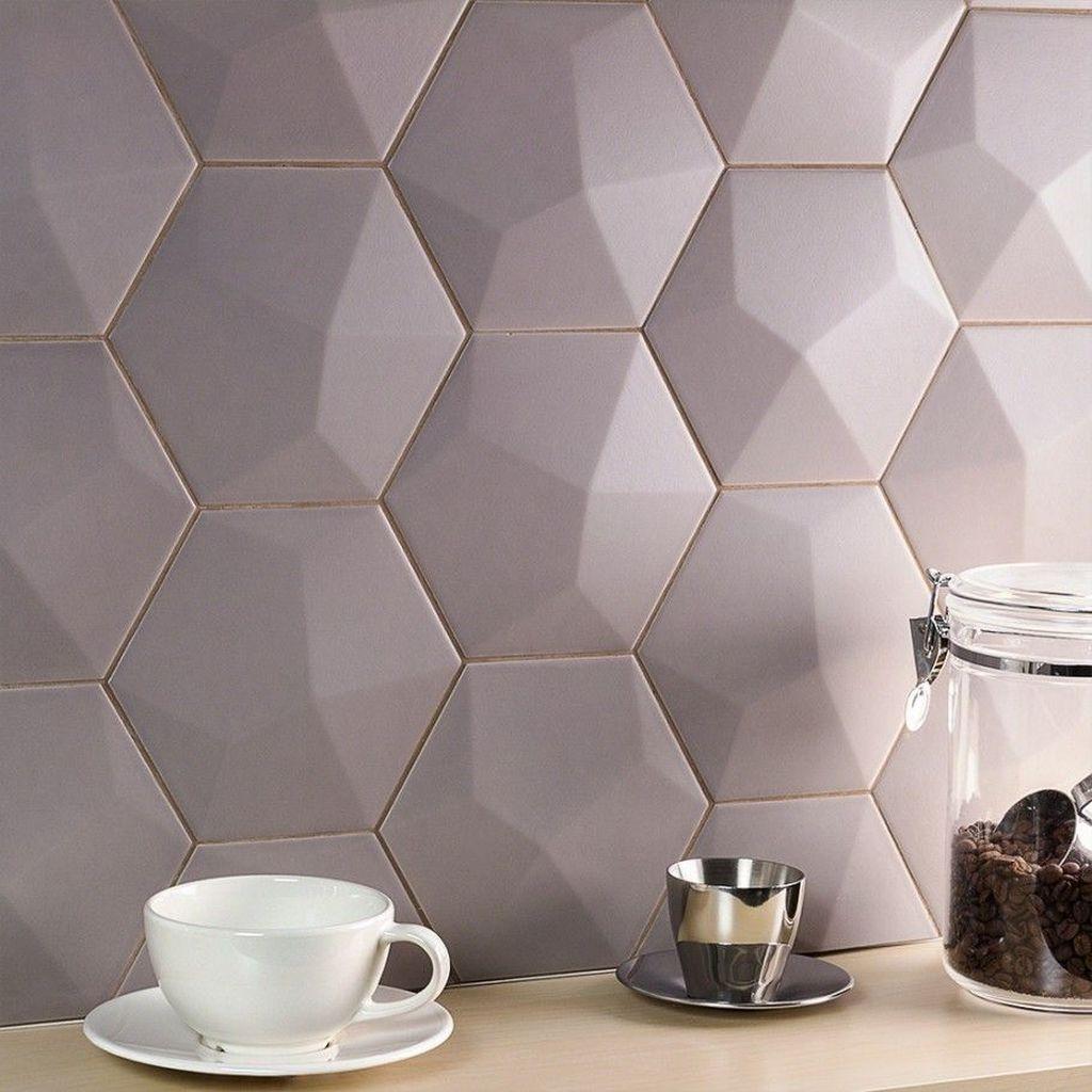 Superb Glitter Kitchen Tiles Design Ideas To Try Nowaday 10