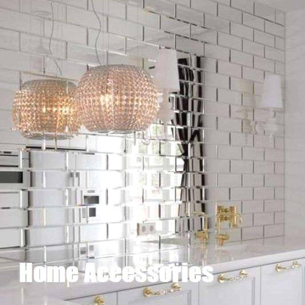 Superb Glitter Kitchen Tiles Design Ideas To Try Nowaday 14
