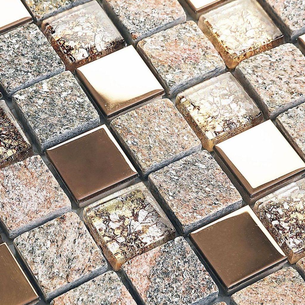 Superb Glitter Kitchen Tiles Design Ideas To Try Nowaday 24