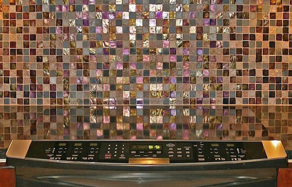 Superb Glitter Kitchen Tiles Design Ideas To Try Nowaday 27