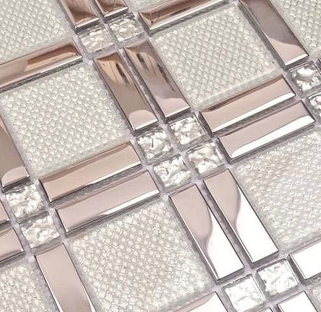Superb Glitter Kitchen Tiles Design Ideas To Try Nowaday 31