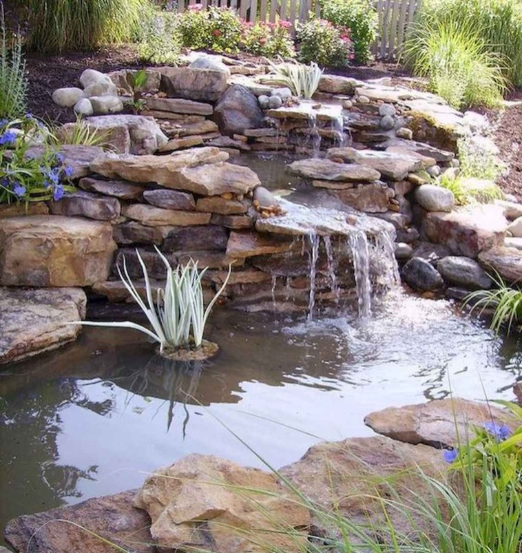 Creative Backyard Ponds Ideas With Waterfalls To Try 01