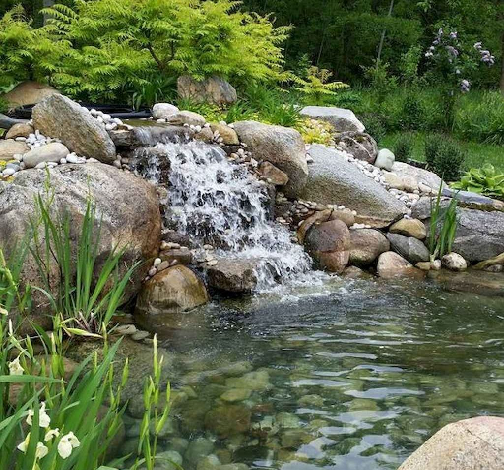 Creative Backyard Ponds Ideas With Waterfalls To Try 08