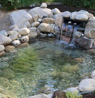 Creative Backyard Ponds Ideas With Waterfalls To Try 16