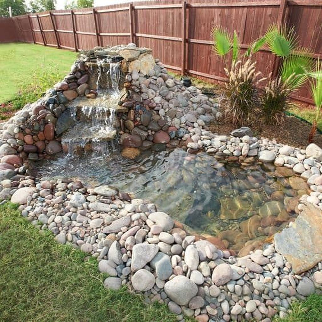 Creative Backyard Ponds Ideas With Waterfalls To Try 18