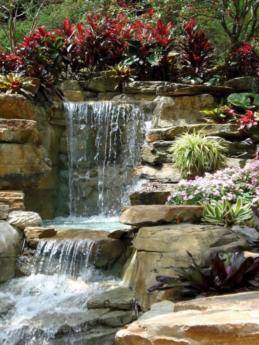 Creative Backyard Ponds Ideas With Waterfalls To Try 29