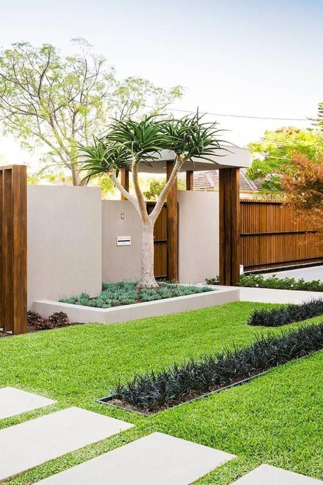 Inspiring Minimalist Frontyard Design Ideas To Try Asap 29