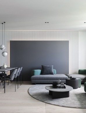 Luxury Living Room Design Ideas With Gray Wall Color 22