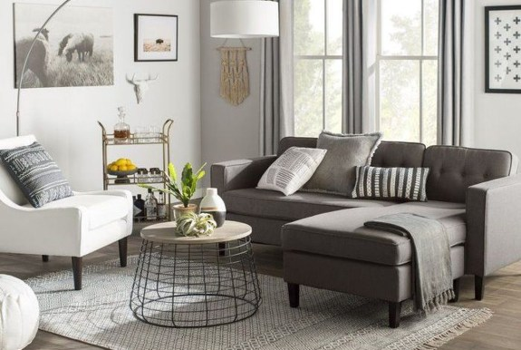Luxury Living Room Design Ideas With Gray Wall Color 23