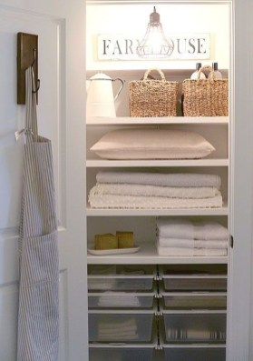 Smart Linen Closet Organization Makeover Ideas To Try This Year 17
