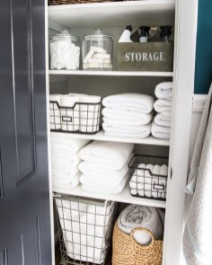 Smart Linen Closet Organization Makeover Ideas To Try This Year 31