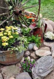 Stylish Diy Painted Garden Decoration Ideas For A Colorful Yard 19