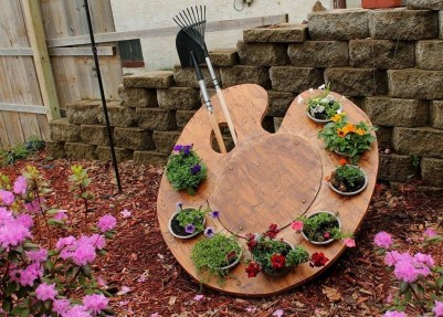 Stylish Diy Painted Garden Decoration Ideas For A Colorful Yard 27