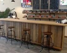 Trendy Pallet Mini Bar Design Ideas To Try 05