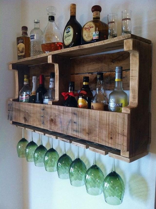 Trendy Pallet Mini Bar Design Ideas To Try 08